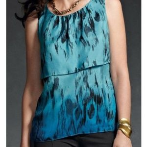 CAbi Serene Tiered Tank Blue Ombre